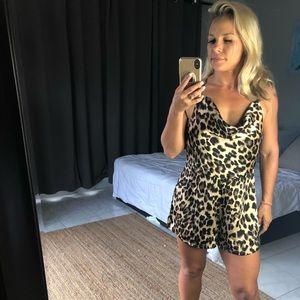 Nasty Gal Leopard Romper